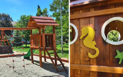 Z nových moderných detských ihrísk sa tešia dve sídliská v Seredi. Na ich hracích prvkoch sa vybláznia deti každého veku