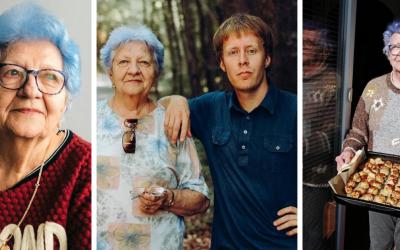 Zo slovenskej babky sa stala influencerka. Blue Grandma s modrými vlasmi valcuje Instagram