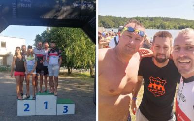 Triatlonisti z ŠK Cyklo-Tour Sereď získali prvé miesto na Majstrovstvách Slovenska v strednom triatlone