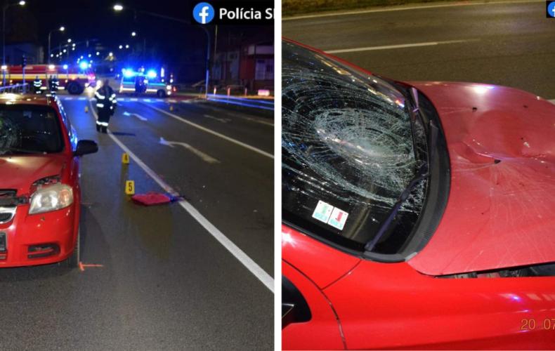Neskúsená vodička a chvíľka nepozornosti spôsobila nehodu v Seredi. Zranený chodec je v kritickom stave