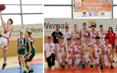 Starší žiaci zBK Lokomotíva Sereď bronzoví na majstrovstvách Slovenska
