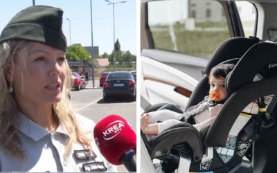 Galantská polícia sa zapojila do kampane Nezabudni na mňa v aute. Má upozorniť na to, aby deti či zvieratá neostávali počas horúčav zamknuté v aute