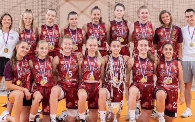 BK Lokomotíva Sereď priniesli domov zlato. Naše kadetky U17 sa stali majsterkami Slovenska