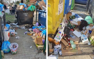 Odstrašujúci príklad zo seredských ulíc. Mnohí Seredčania stále nevedia, prečo je dôležitá separácia odpadu