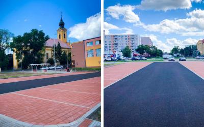 Nové parkovisko v Seredi na križovatke ulíc Kostolná a Vinárska je pripravené na užívanie