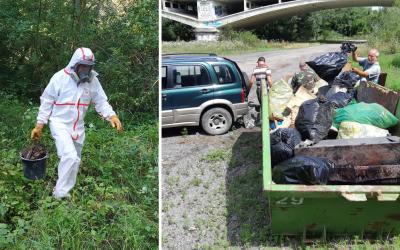V Seredi prebehlo čistenie vodných plôch. Výsledkom boli dva veľkoobjemové kontajnery odpadkov a odstránený azbest
