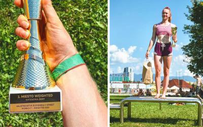 Veronika Greinerová z Paty dosiahla ďalší fantastický úspech. Z Majstrovstiev Slovenska v Street Workoute si odniesla zlatú trofej