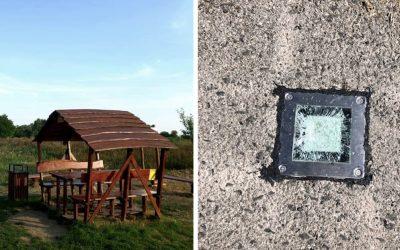 Solárne osvetlenie na cyklotrase v Dolnej Strede opäť zničili vandali. Občianske združenie žiada o pomoc