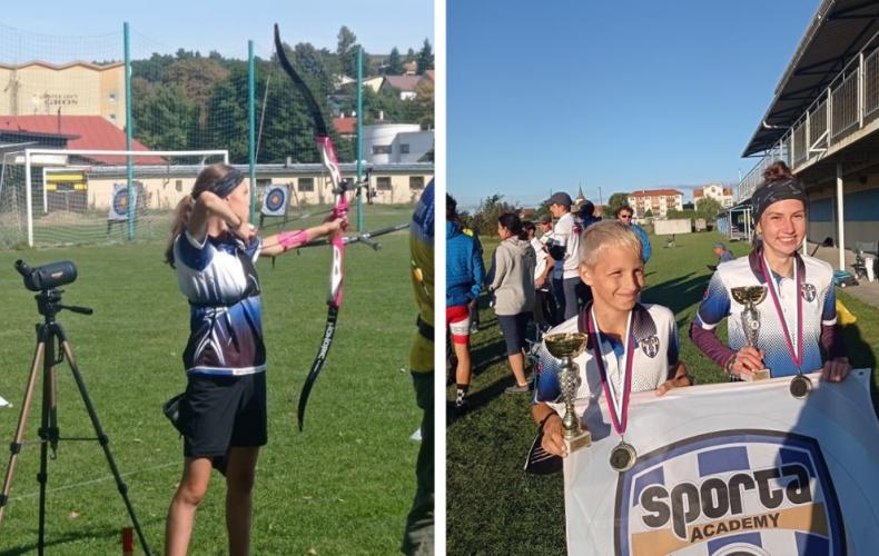V Seredi vyrastá nový športový talent. Lilien Štefániková zo Serede je víťazkou Slovenského pohára v terčovej lukostreľbe