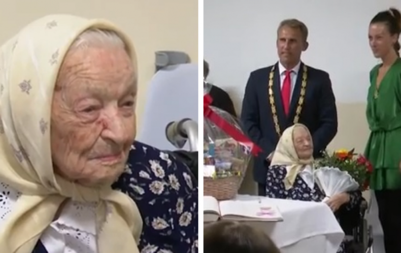 Vzácne životné jubileum oslávila pani Mária Kišová zo Šoporne. Dožila sa krásnych 100 rokov. Prišiel jej zablahoželať aj starosta obce