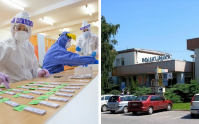 Poliklinika Sereď prevádzkuje PCR testovanie formou kloktacích testov, testov zo slín alebo výterom z nosohltanu. Podmienkou je registrácia