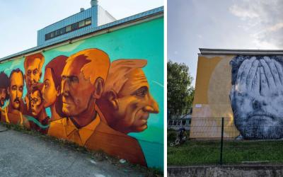 Graffiti nie sú vždy len o vandalizme, ako je to v Seredi. Pozrite sa, ako v projekte Street Art Gallery skrášlili Trnavu