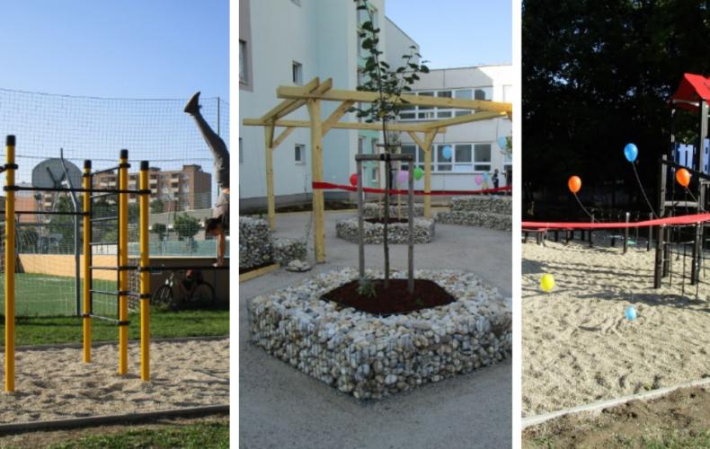 Základná škola J. A. Komenského v Seredi má novú oddychovú zónu, detské a workoutové ihrisko