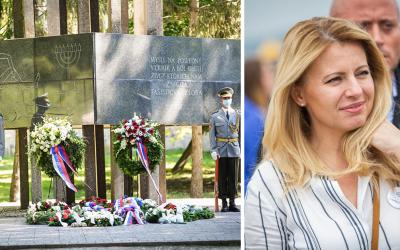 Kladenia vencov v parku sa zúčastní aj prezidentka Zuzana Čaputová. Pripomíname si Pamätný deň obetí holokaustu arasového násilia
