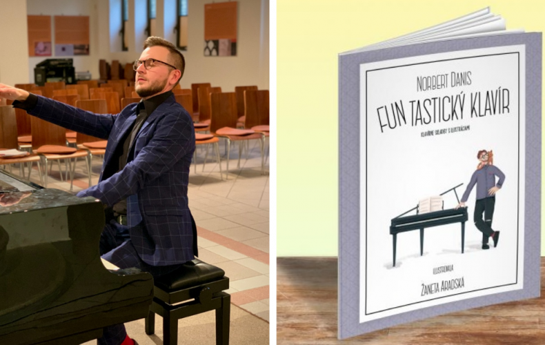 Úspešný klavírny virtuóz Norbert Daniš zo Serede vydáva svoju prvú knihu FUNtastický klavír. Podporte jej vydanie aj vy