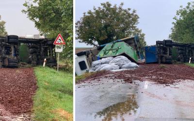 AKTUÁLNE: Cesta zo Šintavy na Vinohrady nad Váhom je neprejazdná. Blokuje ju kamión na vozovke