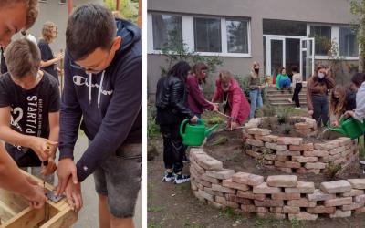 Na ZŠ Juraja Fándlyho v Seredi vytvorili v rámci Enviromentálneho akčného plánu Zelenej školy kompostovisko a upravili školskú ekoučebňu