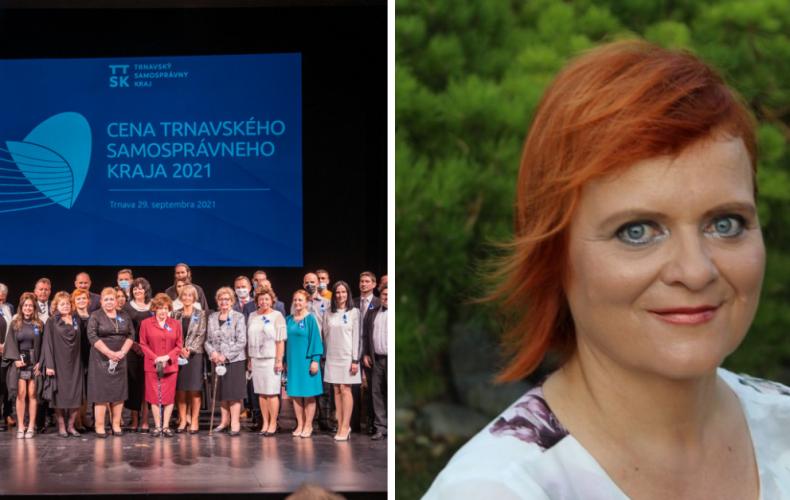 Ocenenie Trnavského samosprávneho kraja získala aj učiteľka zo Serede Mgr. Zuzana Šupová
