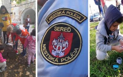 Mestská polícia v Seredi si v rámci Európskeho týždňa mobility 2021 pripravila pre deti zaujímavú aktivitu