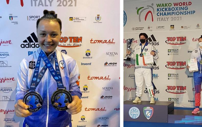 Skarleta Korcová z Paty si z Majstrovstiev sveta v kickboxe v Taliansku priniesla striebro aj bronz