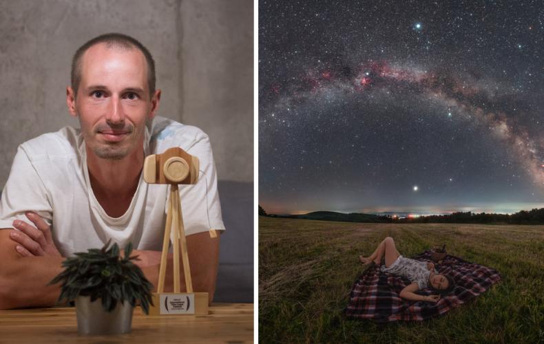 Fotograf Majo Chudý z obce Vinohrady nad Váhom získal opäť ocenenie za jeho neuveriteľnú astronomickú fotografiu