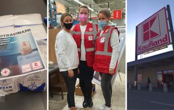 V Kauflande pomáhali vo štvrtok s potravinovou zbierkou aj seredské dobrovoľníčky. Milo ich prekvapil jeden zo zákazníkov